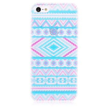 Blue Transparent Hard Back Cover Case for iPhone 5 & 5S