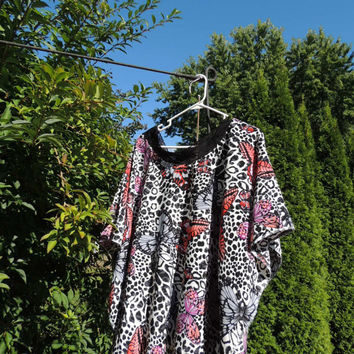 Spring Butterfly Poncho / One Size Caftan / Poncho / Upcycled Cold Shoulder / Unique Tunic / Romantic Top / Recycled Clothing / Tattered FX