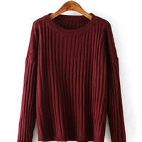 Korean Ulzzang Fashion Vertical Striped Knit Sweater