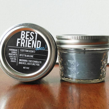 Best Friend Ever Candle, Birthday Gift by Etta Arlene