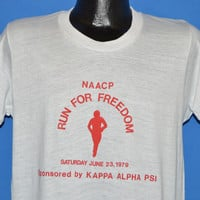 70s NAACP Run For Freedom t-shirt Medium