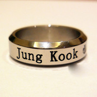 JUNGKOOK JUNG KOOK Bangtan Boys Kpop BTS STAINLESS STEEL RING NEW