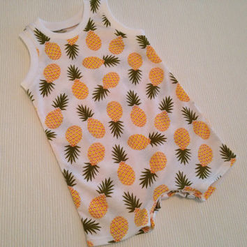 Made to order baby newborn romper choose your fabric print
