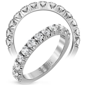 Simon G. Classic Prong Set U-Cut Diamond Wedding Band