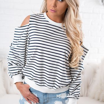 Helen Striped Top (Off White)