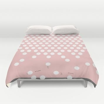 polka dots bounce Duvet Cover by Xiari