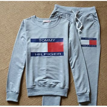 """ Tommy Hilfiger ""Sweatshirt Sweater Pants Sweatpants Set Two-Piece Sportswear"
