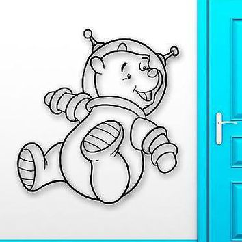Wall Stickers Vinyl Decal Nursery Winnie The Pooh Cartoon Baby Space Unique Gift (ig1055)