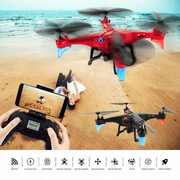 RC Drone WIFI FPV Transmitter RC Helicopter 2.4GHz Headless Mode RC Quadcopter Altitude Hold Mini Drone with Camera