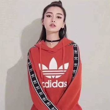 """Adidas"" Fashion Long Sleeve Hooded Sweater"