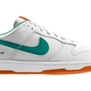 new product ce7e9 b27eb Nike Dunk Low NFL Miami Dolphins iD Custom Men s Shoes - White