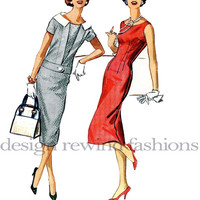 1950s McCalls 4549 Misses Sheath Dress & Jacket - Day, Evening or Cocktail Dress - Size 14/Bust 34 Vintage Sewing Pattern