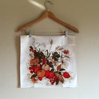 Vintage Harvest Pure Linen Tea Towel by Luther Travis