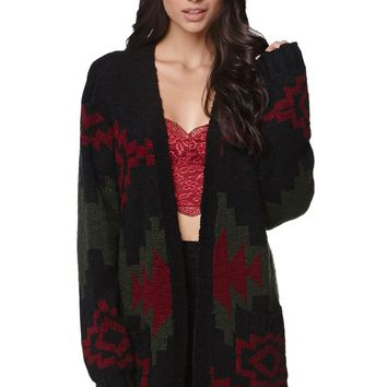 LA Hearts Oversized Chunky Pocket Cardigan - Womens Sweater