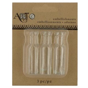Mini Clear Craft Wine Bottle Set ( Case of 60 )