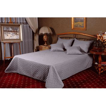 Tache 3 to 5 PC Solid Gray New Baubles Bedspread Set (DXJ109038-2)