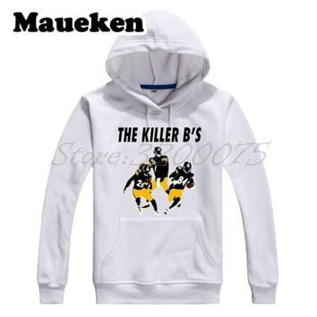 Men Hoodies Antonio Brown The Killer B'S Le'Veon Bell Pittsburgh Ben Roethlisberger Sweatshirts Steelers Thick Winter W17112210