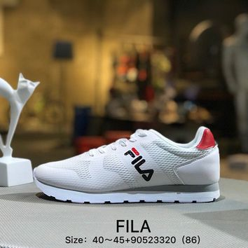 FILA Fshion White Men Sports Running Shoes Sneaker
