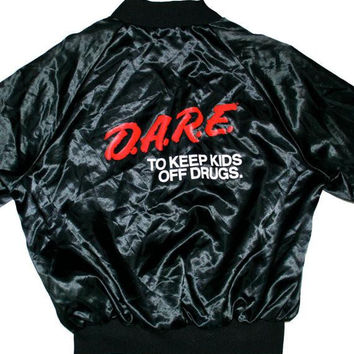 RARE Vintage Satin DARE Jacket Mens Size Large