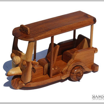 TukTuk Taxi made of Teak Wood from Thailand