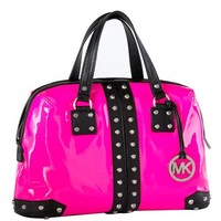 Michael Kors Uptown Astor Satchel in Neon Pink