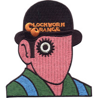 Clockwork Orange Men's Droog Embroidered Patch Black