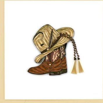 Quilling Card Cowboy Toys Greeting Card