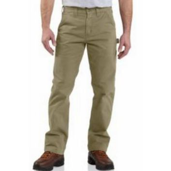 Carhartt Washed Twill Dungaree Relaxed Fit | Dark Khaki