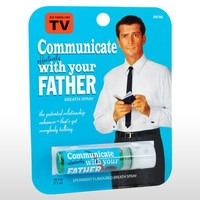 Blue Q Communicate With Dad Breath Spray