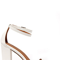 One Little Song White High Heel Sandals