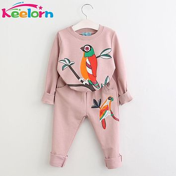 Girls Clothing Sets  New Fashion Girls Clothes Boys Clothing Sets Kids Clothes Cartoon Print Sweatshirts Pants Suit