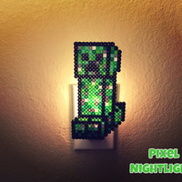 Creeper | Minecraft | Popular Game| Minecraft Inspired | Night Light | Wall Decoration | Size Large |