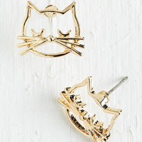 Quirky Came as a Cat Earrings by ModCloth