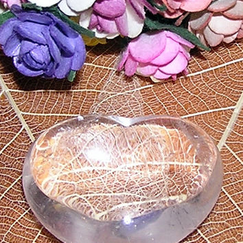Clear Quartz Solid Gemstone Crystal Puffy Heart - 30mm Diameter