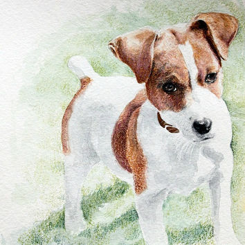 8x10 Pet Portrait -Custom Dog or Cat or Pet - Original Painting - Custom Ordered Pet Portrait - Original Watercolor - Animal Lover Gift