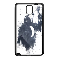 Wolf Song 3 Black Silicon Rubber Case for Galaxy Note 3 by Balazs Solti