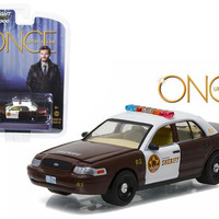 """Sheriff Graham's 2005 Ford Crown Victoria Police Interceptor """"Storybrooke"""" Once Upon a Time (2011-Current) TV Series  1-64 Diecast Model Car  by Greenlight"""