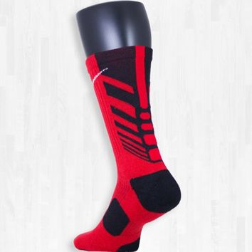 Red and Black Nike Sequalizer Elite Socks | Rock 'Em Apparel