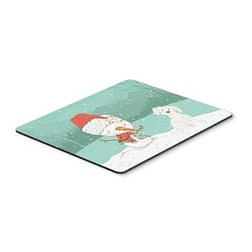 Maltese Snowman Christmas Mouse Pad, Hot Pad or Trivet CK2094MP