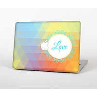 "The HighLighted Colorful Triangular Love Skin Set for the Apple MacBook Pro 15"" with Retina Display"