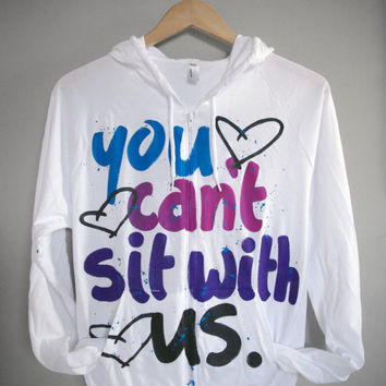 MEAN GIRLS - You Can't Sit With Us, The Plastics, So Fetch Hoody (S)