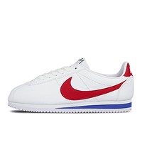 Nike Cortez Classic Retro Black White/Red Blue White Stylish Women Men Personality Flat Sport Running Shoe Sneakers I