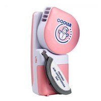WoneNice Portable Small Fan & Mini-air Conditioner, Runs On Batteries Or USB (Pink)