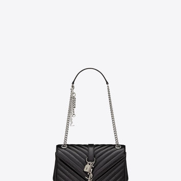 Saint Laurent Classic Medium MONOGRAM SAINT LAURENT Punk Chain Bag In Black Matelassé Leather | ysl.com