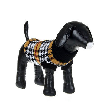 Puppy Pet Dogs Winter Warm Knitted Jumper Sweater Coat Clothes Patterned Apparel Tops Free Shipping