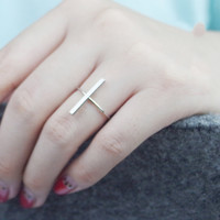 Gift Shiny Jewelry New Arrival 925 Silver Simple Design Stylish Accessory Ring [8380578375]