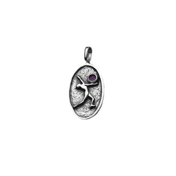 Dance Of Joy Sterling Silver Amethyst Charm