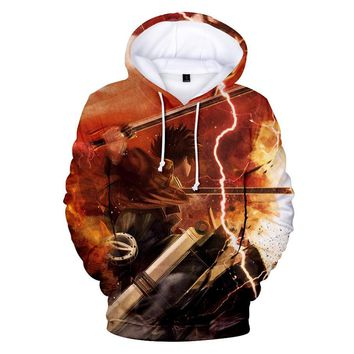 Cool Attack on Titan High-Q Unisex Anime Cos  3D Print Hooded Hoodie Pullover Sweatshirts Coat AT_90_11