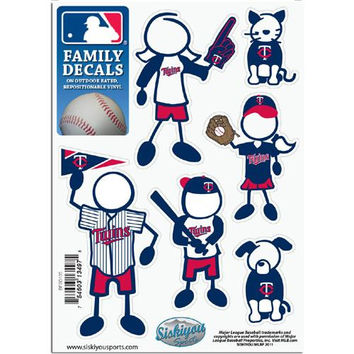 Minnesota Twins MLB Family Car Decal Set (Small)