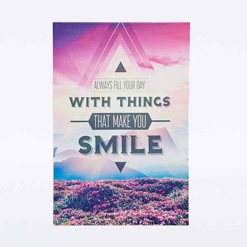 Smile Canvas Wall Art - Urban Outfitters